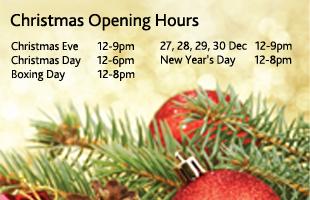 Christmas 2016 Opening Hours